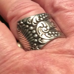 Jewelry - Repurposed Original Spoon Ring, Sz. 9